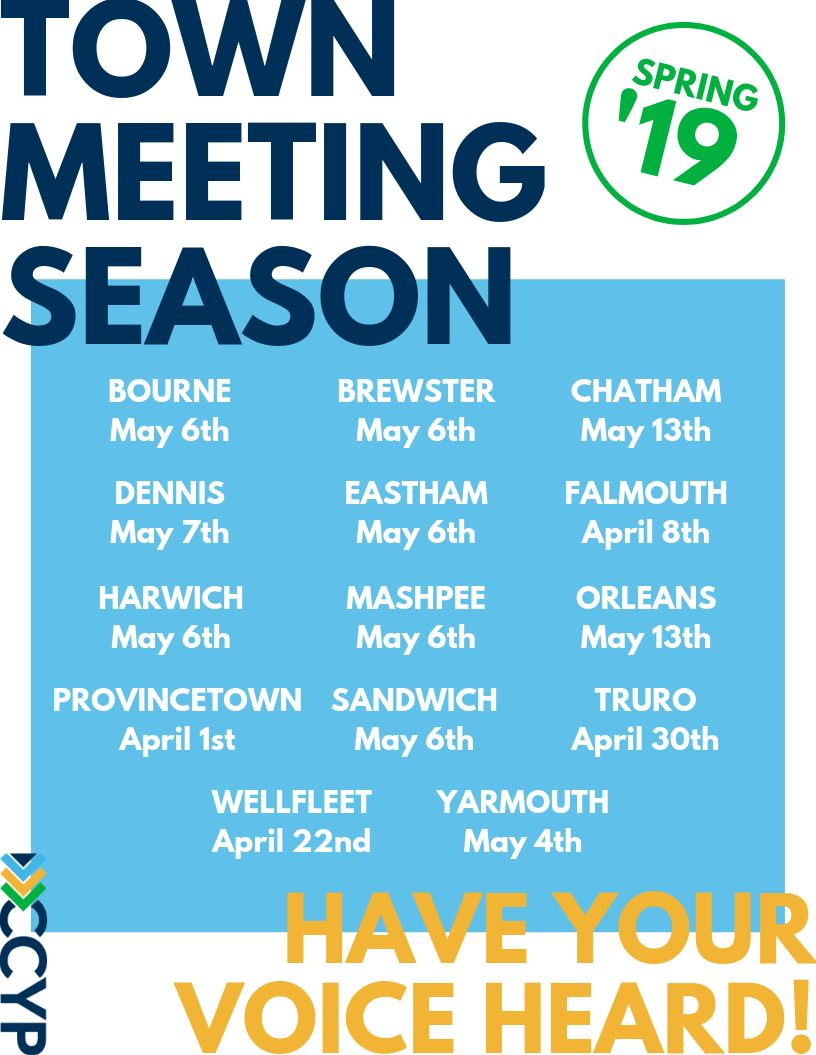 Town Meeting Schedule Spring 19 1