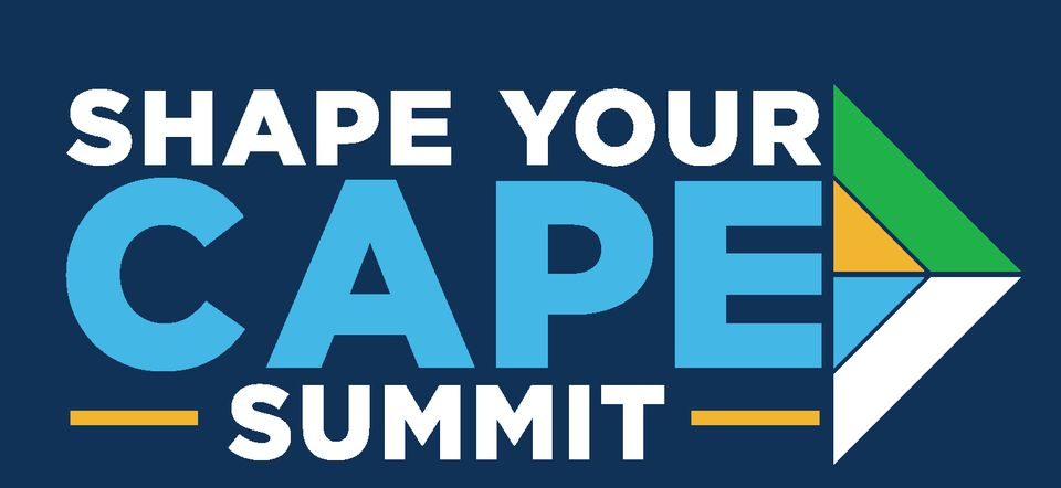 Shape Your Cape Summit Logo Final Blue Background